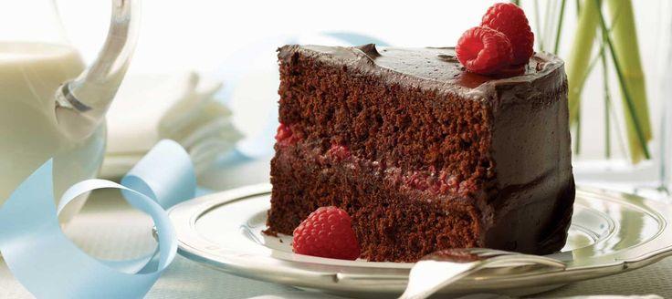 Chocolate Raspberry Celebration Cake