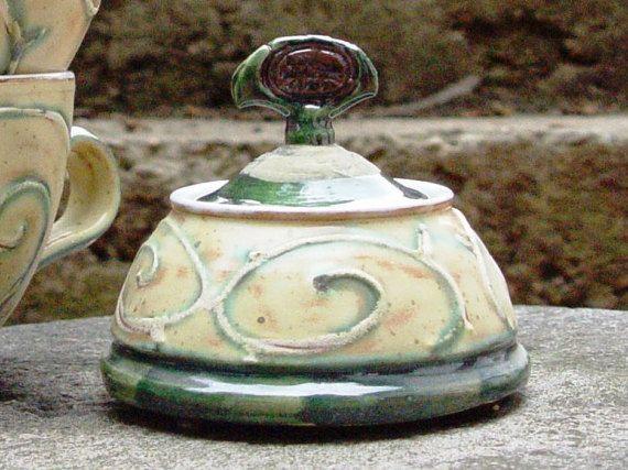 Sugar bowl. Ceramic sugar bowl Sugar box Lidded by DankoHandmade