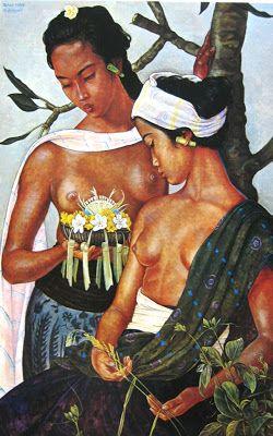 Rudolf Bonnet - Dua Orang Gadis Bali