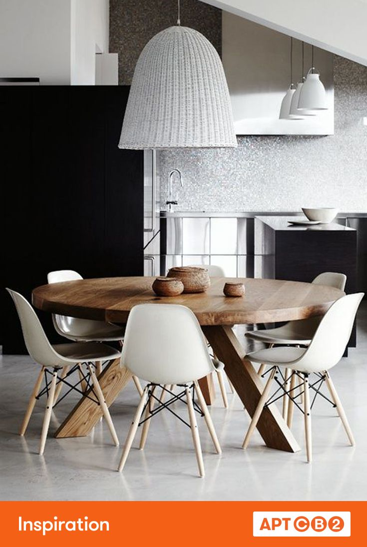 Finding the right size pendant fixture to hang over a dinging room table is vitally important. Bigger is almost always better. #APTCB2 #inspiration