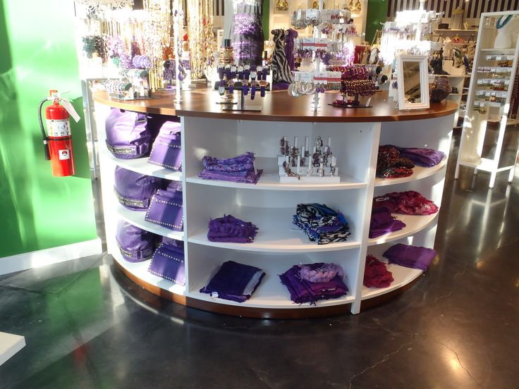 More purple goodies at the Charming Charlies store.