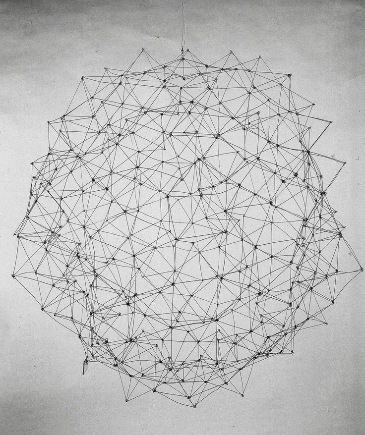 Gego (Gertrud Goldschmidt) - Reticulárea, 1969-1980s, aluminum and stainless steel wire
