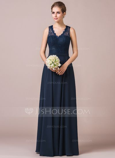 JJs House - Sale $122 Would be Dark Green - http://www.jjshouse.com/A-Line-Princess-V-Neck-Floor-Length-Chiffon-Lace-Bridesmaid-Dress-007056568-g56568