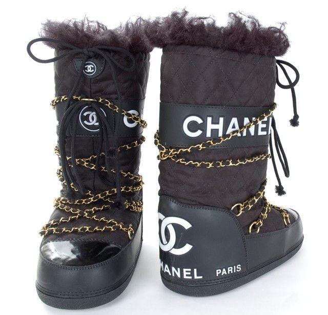 CHANEL Apres Ski Moon Boots                                                                                                                                                                                 More