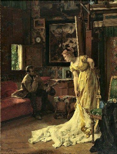"""The Studio"", 1869, by Alfred Stevens (Belgian, 1823-1906)."