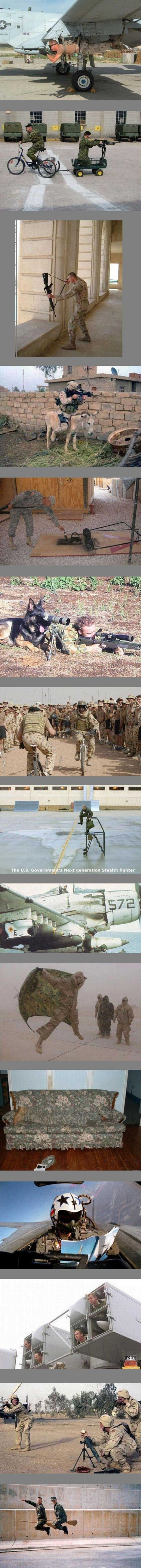 Soldiers having fun.