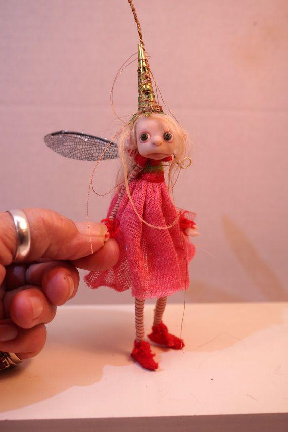 ooak poseable TINY pink Pixie fairy 202 fairy by DinkyDarlings
