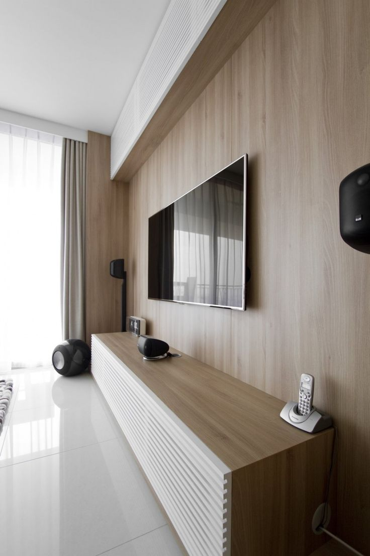 ao console with samsung smart tv complete with bowers wilkins for the natura loft apartment singapore