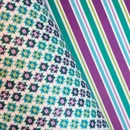 Geschenkpapier Streifen & Muster doppelseitig   5 Bogen