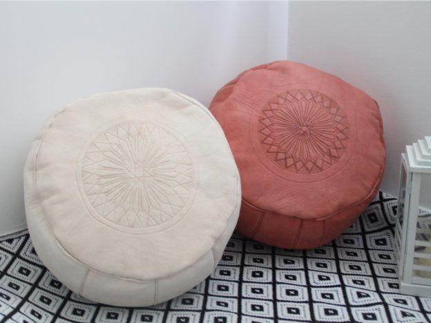 puf árabe de piel natural