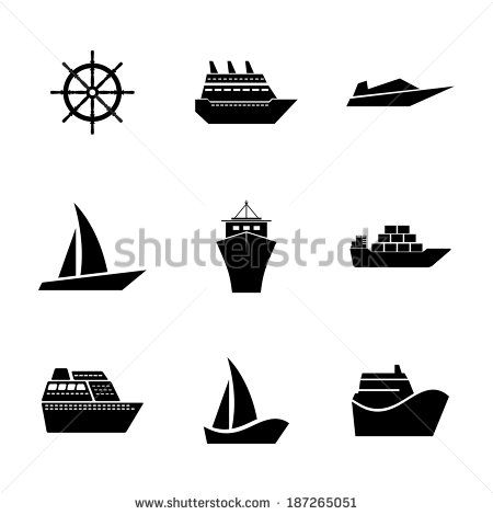 SECONDARY RESEARCH: examples of basic boat vectors. useful to see how simplistic shapes are used to form the imagery.
