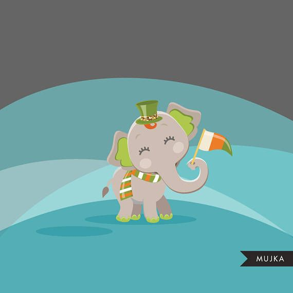 St Patrick S Day Clipart Cute Irish Animals Graphics Etsy St Patricks Day Clipart Clipart Cute St Patrick Day Activities