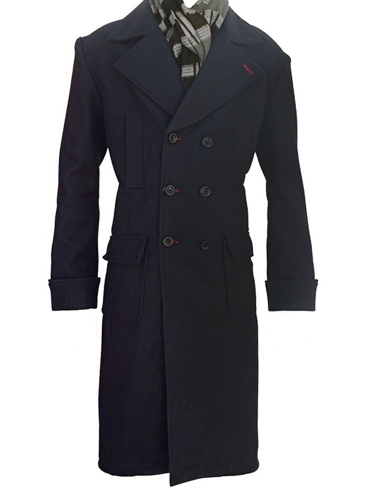 Customized Sherlock Holmes Trench Coat-Mens Winter Coats Amazon Best Seller Wool Long Coat