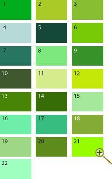 Зеленые оттенки для цветотипа весна
