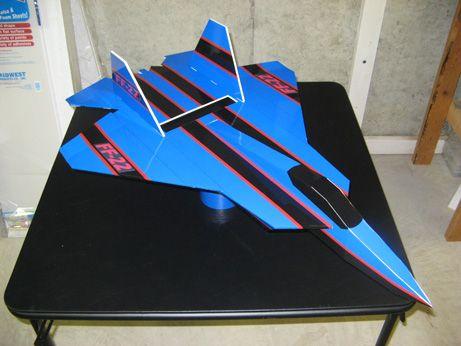 Free Template To Make Foam Board Plane W Motor Templates Plane