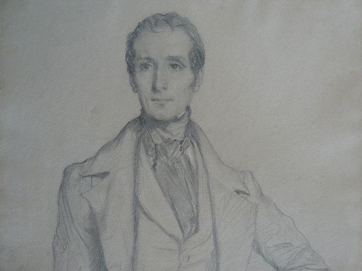 CHASSERIAU Théodore,1844 - Portrait de Lamartine - drawing - Détail 01