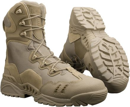 The new model of Magnum Spider boots: Spider 8.1 Desert HPI. They offer much improvement compared to the old 8.0 version and show quite a similarity to Bates M-9 Desert.