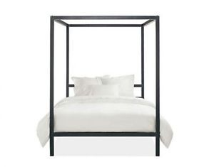Modern Black Metal Canopy Bed Timmins Ontario image 2