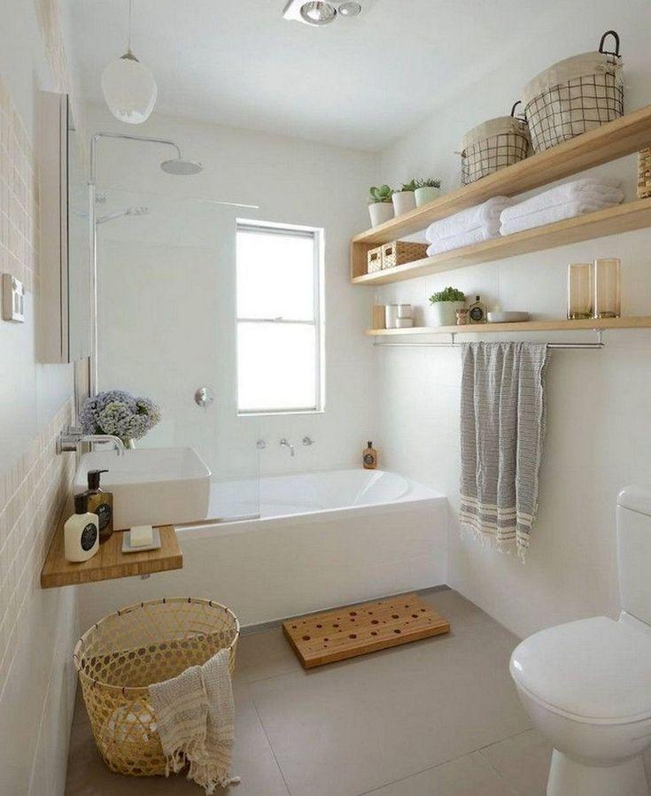 80+ Luxury Small Bathroom Decorating Ideas #bathroomideas #bathroomdesign #bathr…   – Badezimmer Ideen