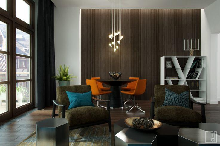 Modern, masculine living room.