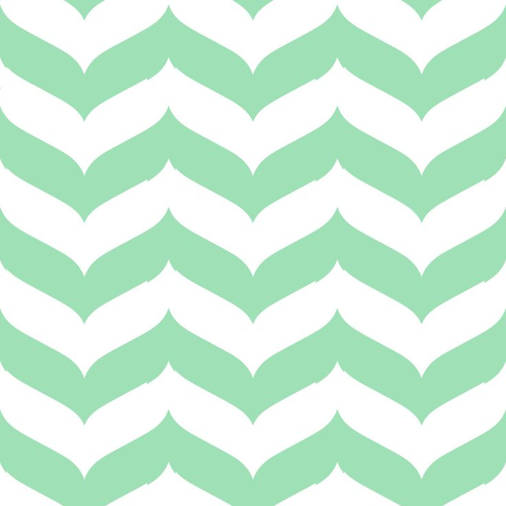 Removable Wallpaper - Wave Chevron Print in Mint and White — Gail ...