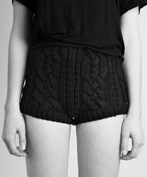 cable-knit shorts [that don't make your crotch look weird - miraculous] #knit