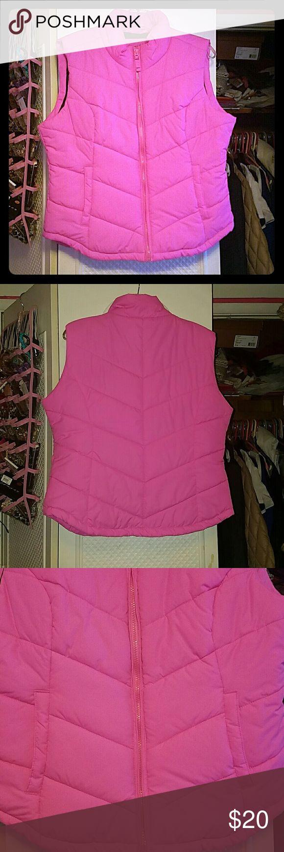 Highlighter Pink Vest Great condition, hardly worn. Aeropostale Jackets & Coats Vests