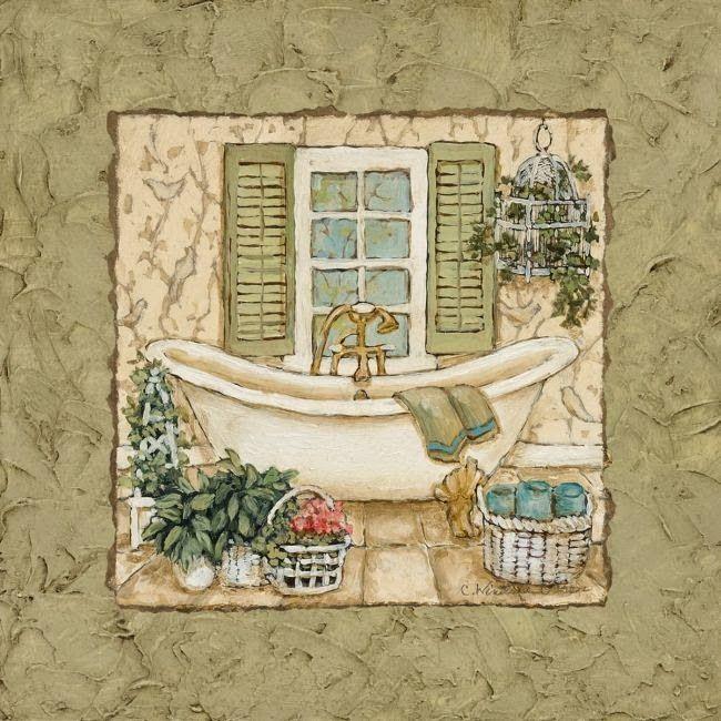 Si,láminas para decorar el cuarto de baño...Macarena me ...