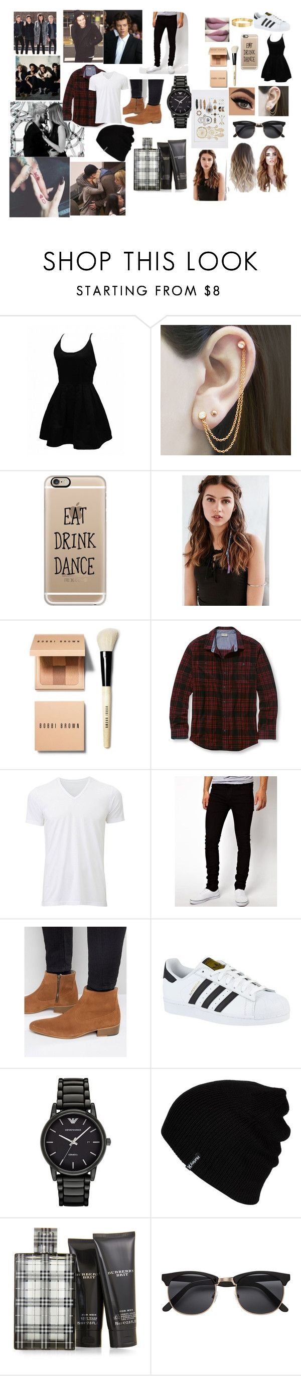 """walking in the wing"" by lolianalobo on Polyvore featuring Embers Gemstone Jewellery, Casetify, REGALROSE, Bobbi Brown Cosmetics, L.L.Bean, Uniqlo, Dr. Denim, Kurt Geiger, adidas y Emporio Armani"