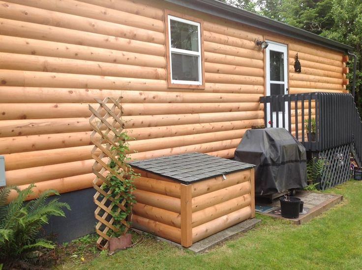 Log Siding Installed On Manufactured Home Swartz