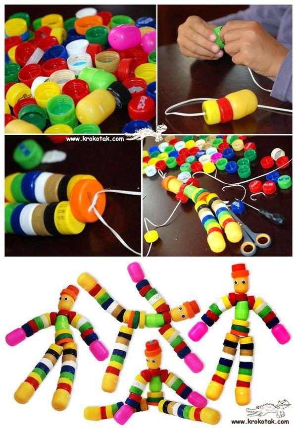 Plastic cap people / dolls