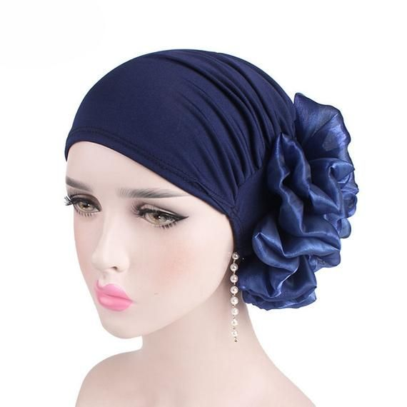 Womens Muslim Hijab Hat Islamic Ruffle Cancer Chemo Beanie Turban Wrap Cap