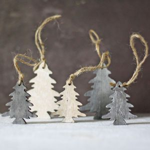 Wooden Trees Hanging Christmas Tree Decorations - tree decorations