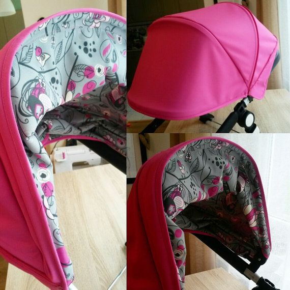 Custom extendable canopy hood for Bugaboo Cameleon Buffalo Donkey Orbit Baby G2