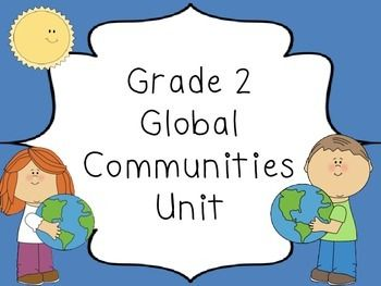 French Grade 2 Global Communities - word wall words and activities based on the Ontario social studies curriculum.