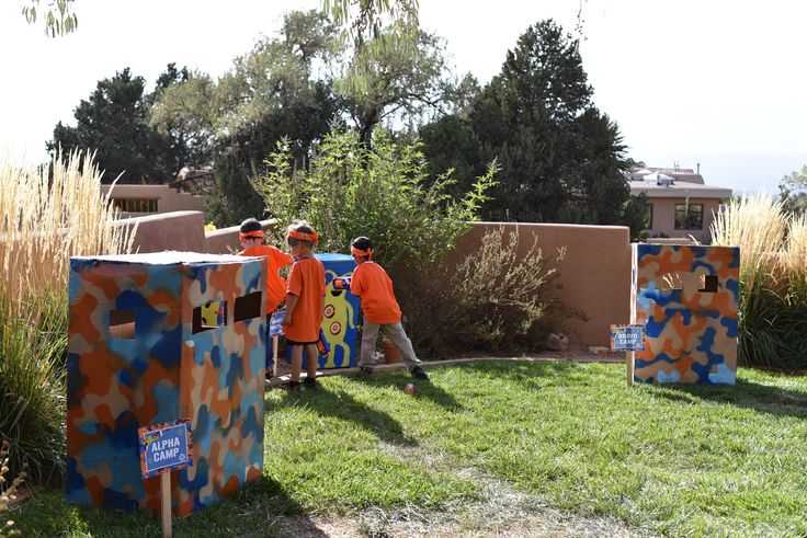 Nerf Party Battle Grounds Nerf Gun War Birthday Party