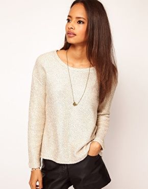 Now on Sale:ASOS Jumper in Metallic Cut and Sew