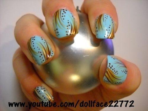 light blue designs
