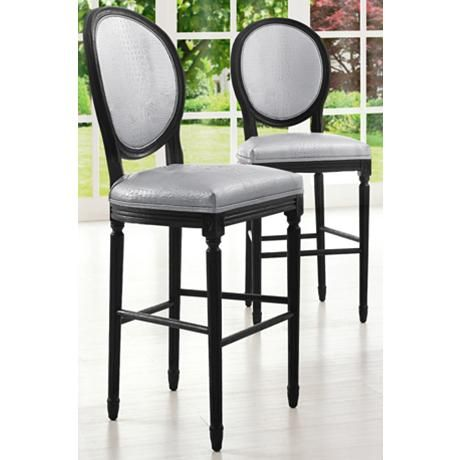A Sophisticated Look For The Kitchen Or Home Lounge, This Traditional  Armless Counter Stool Boasts