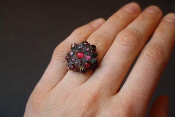 Ring DragonGlass ruby oro от LikeAGlassShop на Etsy