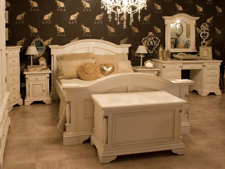 Country French Bedroom Furniture Shabby Chic Painted Ivory Uniquechic Furniture