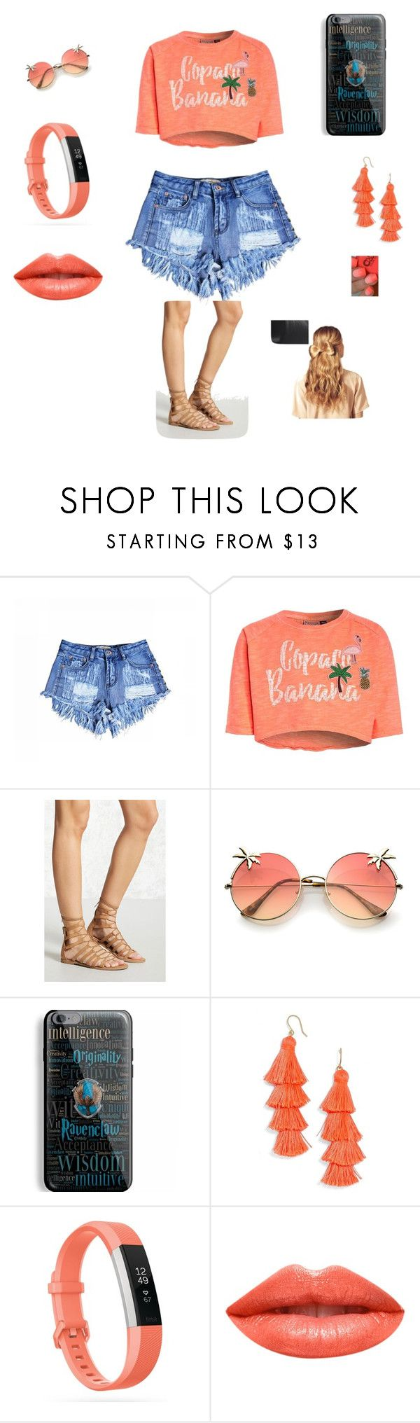 """""""Untitled #15"""" by ciara-vodzak ❤ liked on Polyvore featuring Forever 21, Samsung, BaubleBar, Fitbit, Ardency Inn and Hershesons"""