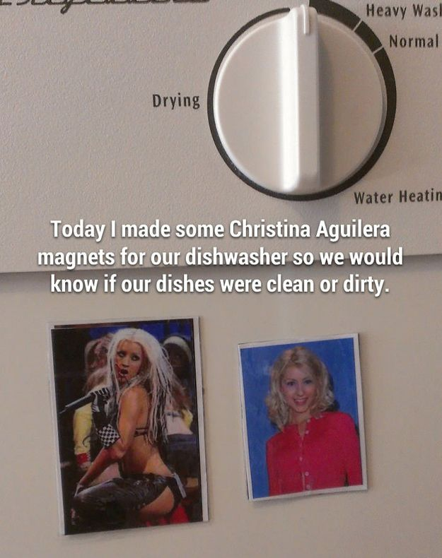 Christina Aguilera Dishwasher Magnets | 26 Of The Best Ideas Ever