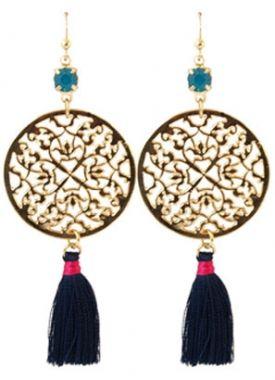 Leuke blauwe boho oorbellen http://www.wenn-sieraden.nl/oorbellen-blauw #oorbellen #boho #earrings #shop #sieraden #sieradenparty #jewelry #party #musthave