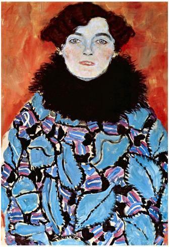 Gustav Klimt Johanna Staude Art Print Poster Póster
