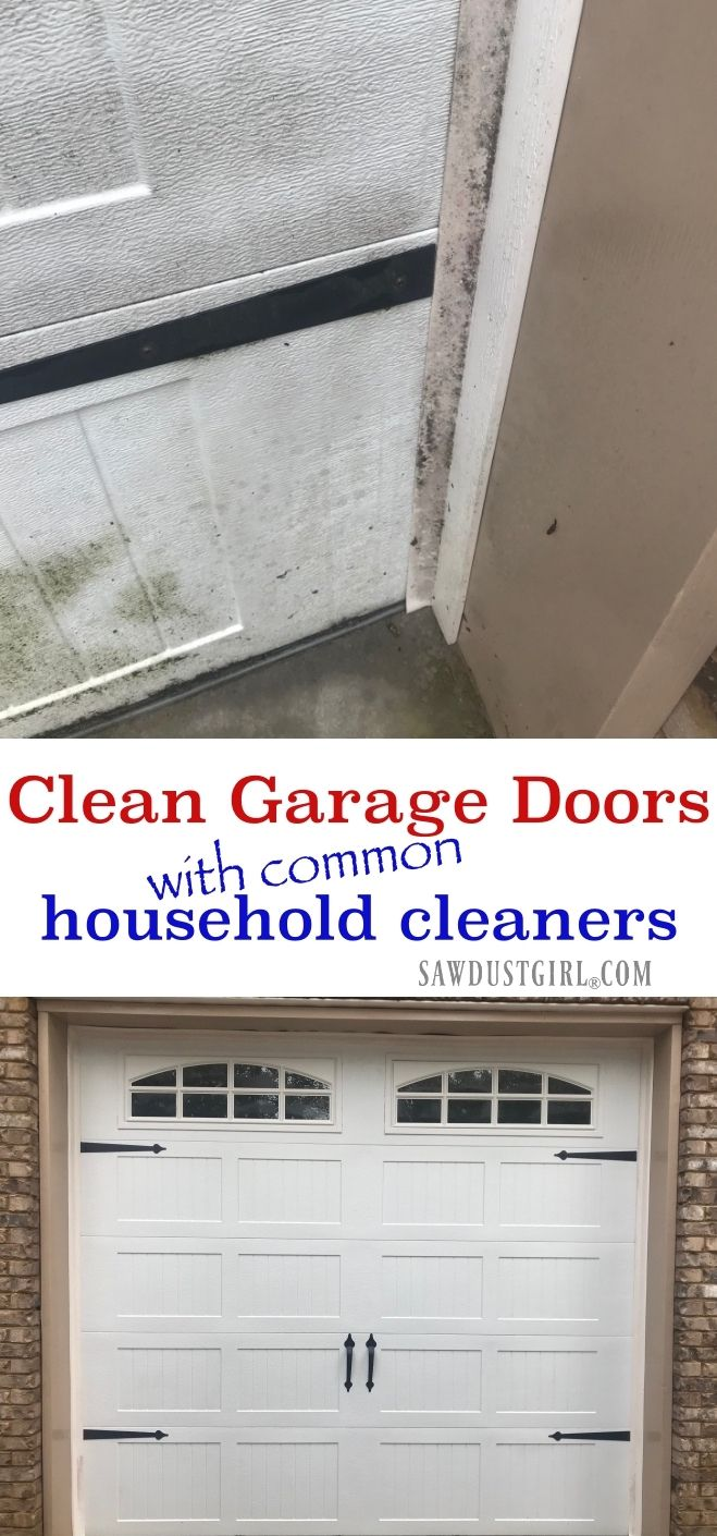How To Clean A Garage Door And White Rubber Weather Stripping Sawdust Girl Garage Doors Clean Garage Wooden Garage Doors
