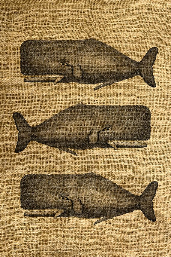 whales I need to try stamping on burlap like @Jess Pearl Pearl Liu Mussell says.  Of course I would need the whale stamp too.