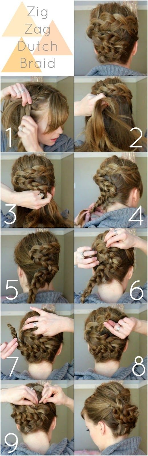 Zig Zag Dutch Braid