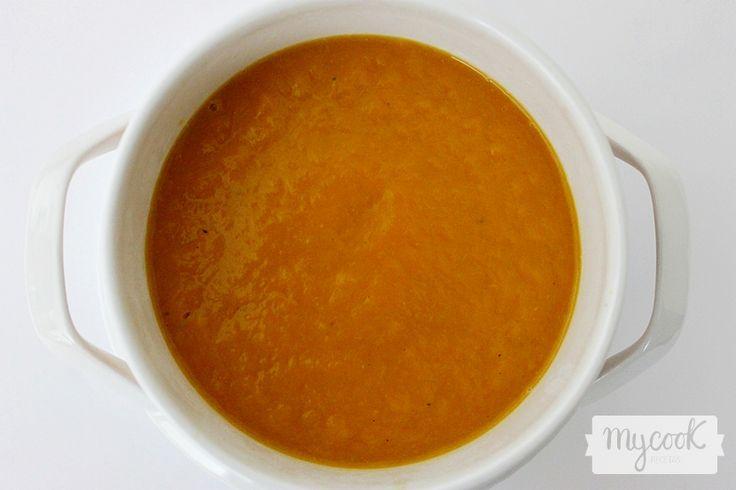Crema de puerro y calabaza - http://www.mycookrecetas.com/crema-de-puerro-y-calabaza/