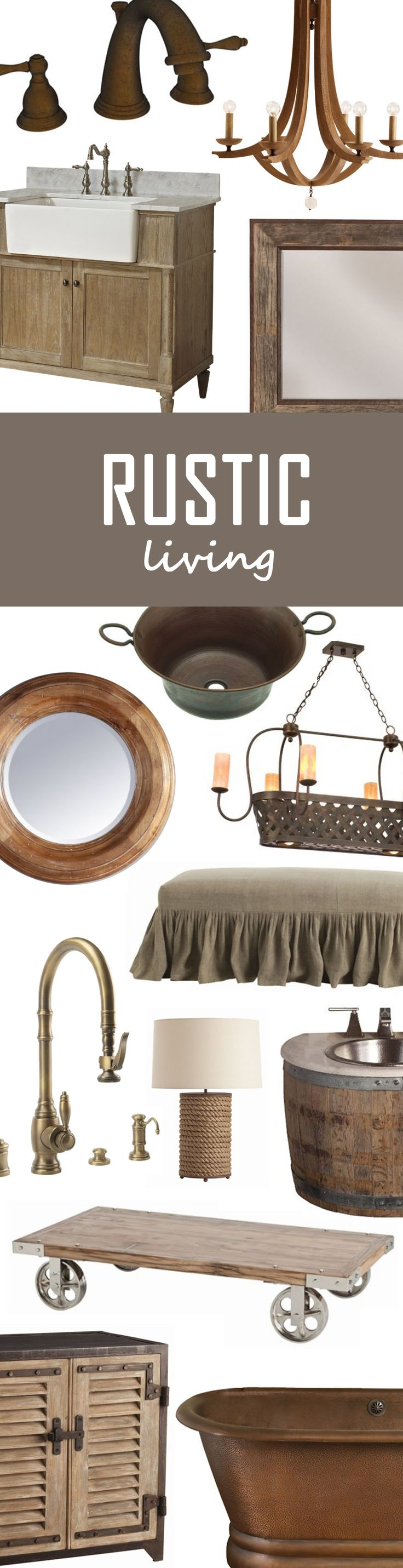 Do you love the cozy and authentic feel of rustic decor? So do we! Check out some of our favorite rustic pieces!